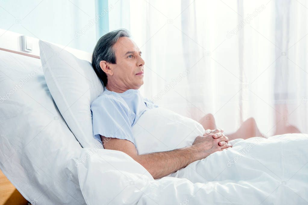 middle aged patient lying