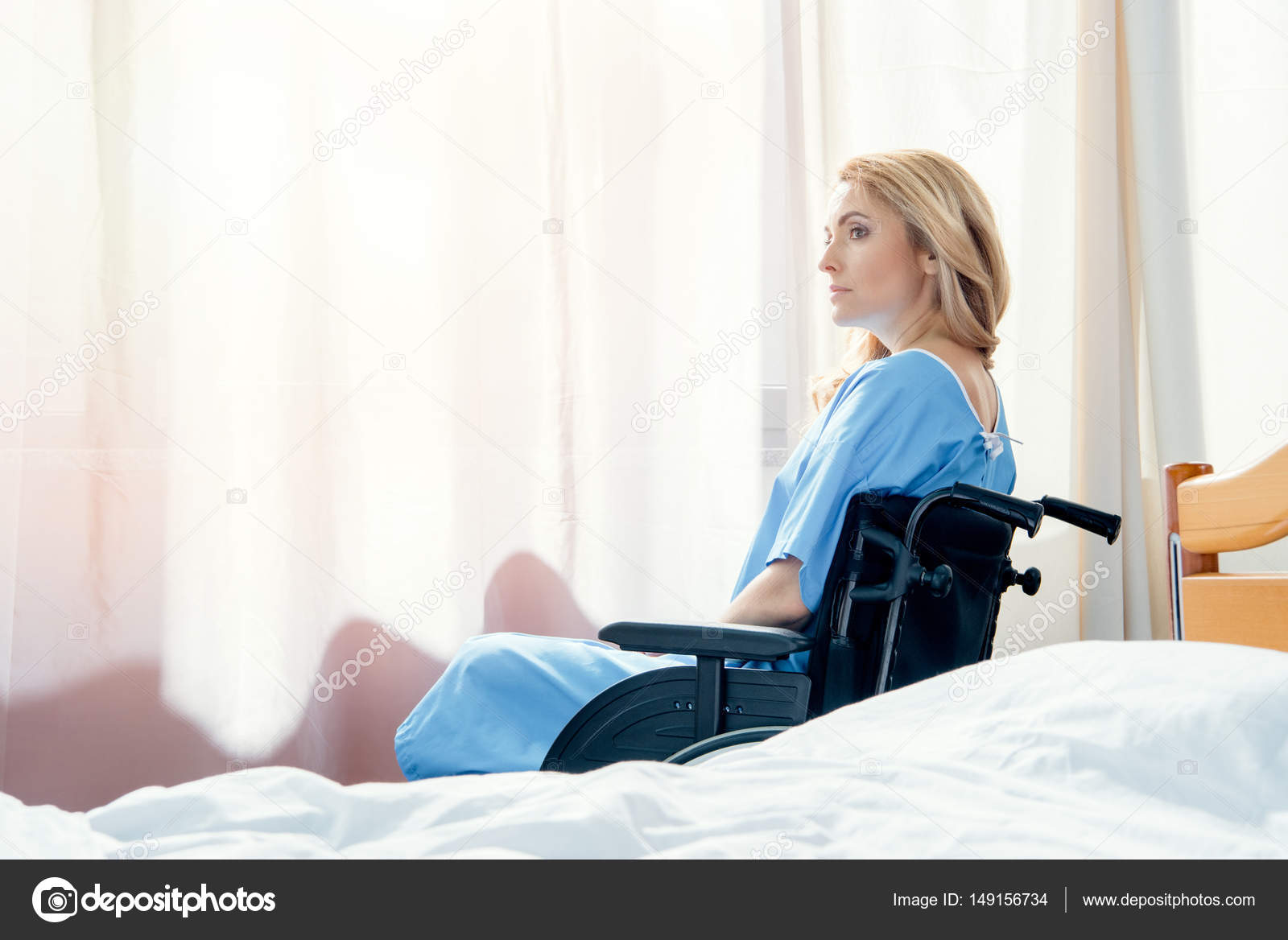 Wheelchair Woman In Hospital U2014 Stock Photo