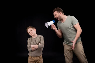 Father and son having conflict