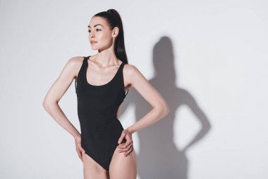 Beautiful woman in bodysuit