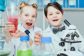 Photo Little scientists in lab