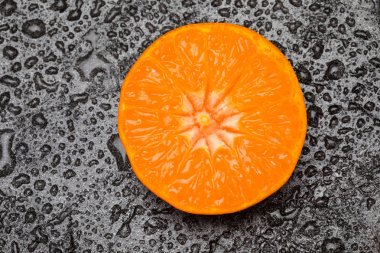 Fresh cut orange fruit