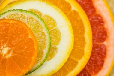 Citrus fruits slices