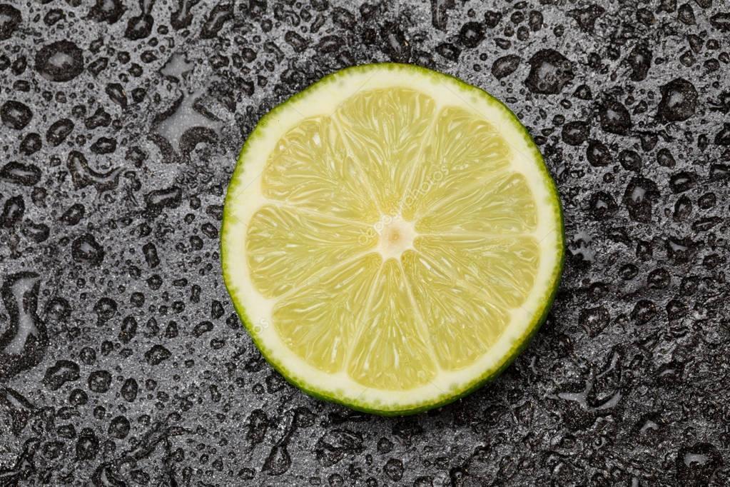 fresh lime slice