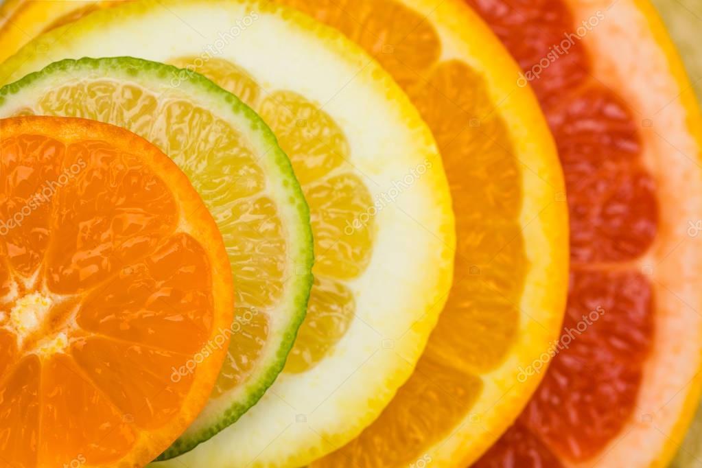 citrus fruits slices
