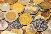 Különböző érmék háttér