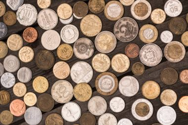 collection of different coins