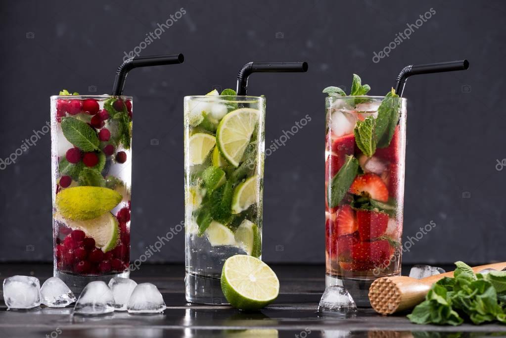 different fresh lemonades