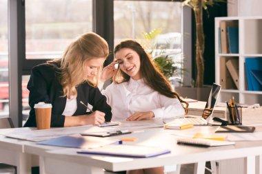 Businesswomen working on project