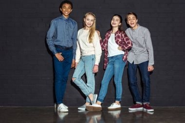 group of stylish teens