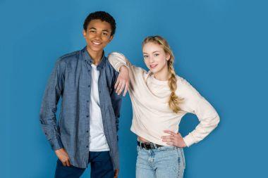 stylish teen couple