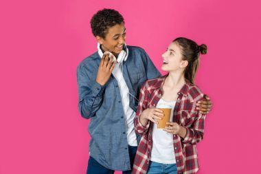 embracing teen couple
