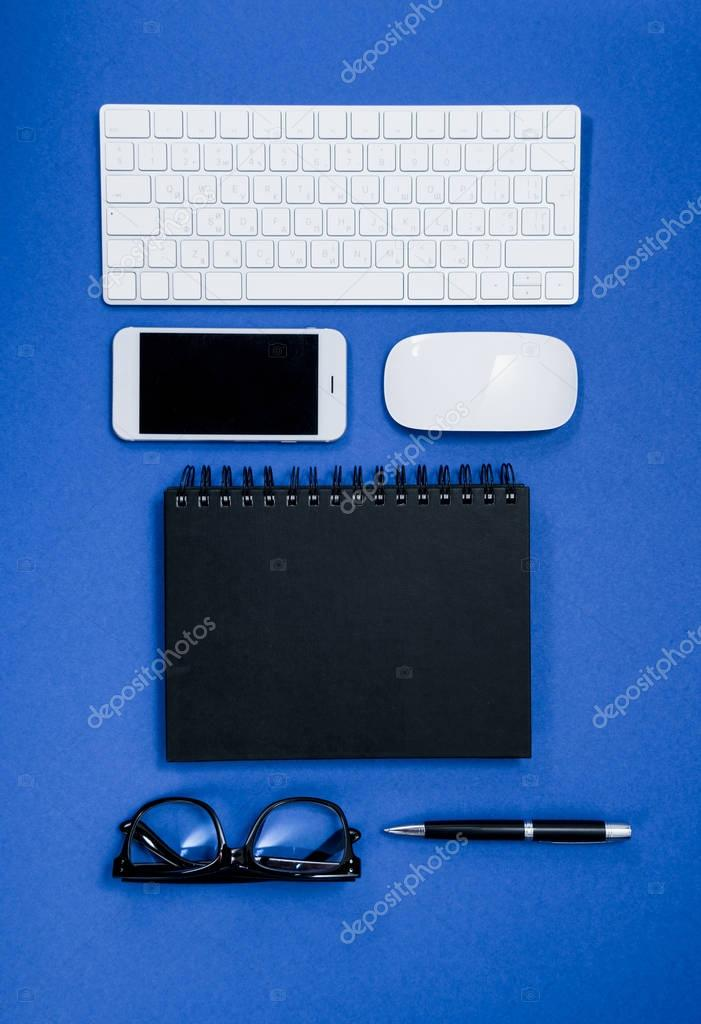 office supplies on table