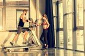 Sportler-Training mit Laufband