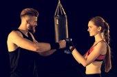 Fotografie Sportovní muž a žena, školení