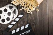 Fotografie Popcorn und Film Klöppel-board