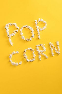 Pop corn lettering