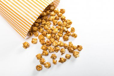 Popcorn in paper container