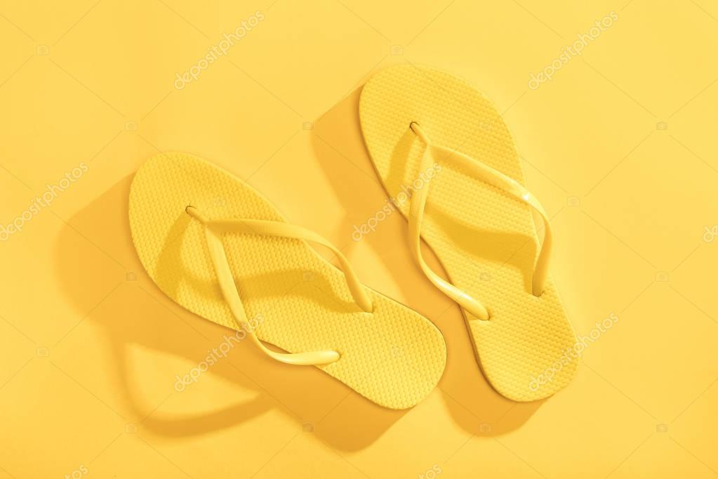 Comfortable yellow flip-flops