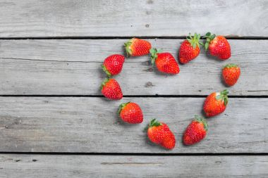 strawberries in heart shape