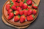 čerstvé červené jahody