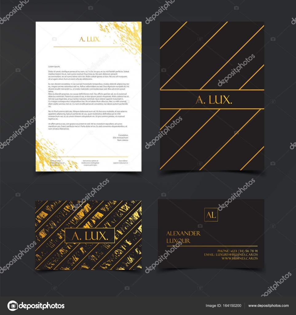 Image De Marque Luxe Et Corporate Identity Template Cartes Visite Fashion Noir Lgant