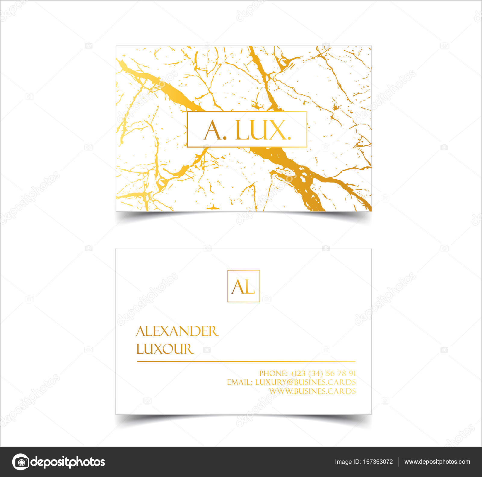 Elegant White Luxury Business Cards With Marble Texture And Gold Detail Vector Template Banner Or Invitation With Golden Foil Details Branding And Identity Graphic Design Stock Vector C Volmon Tut By 167363072