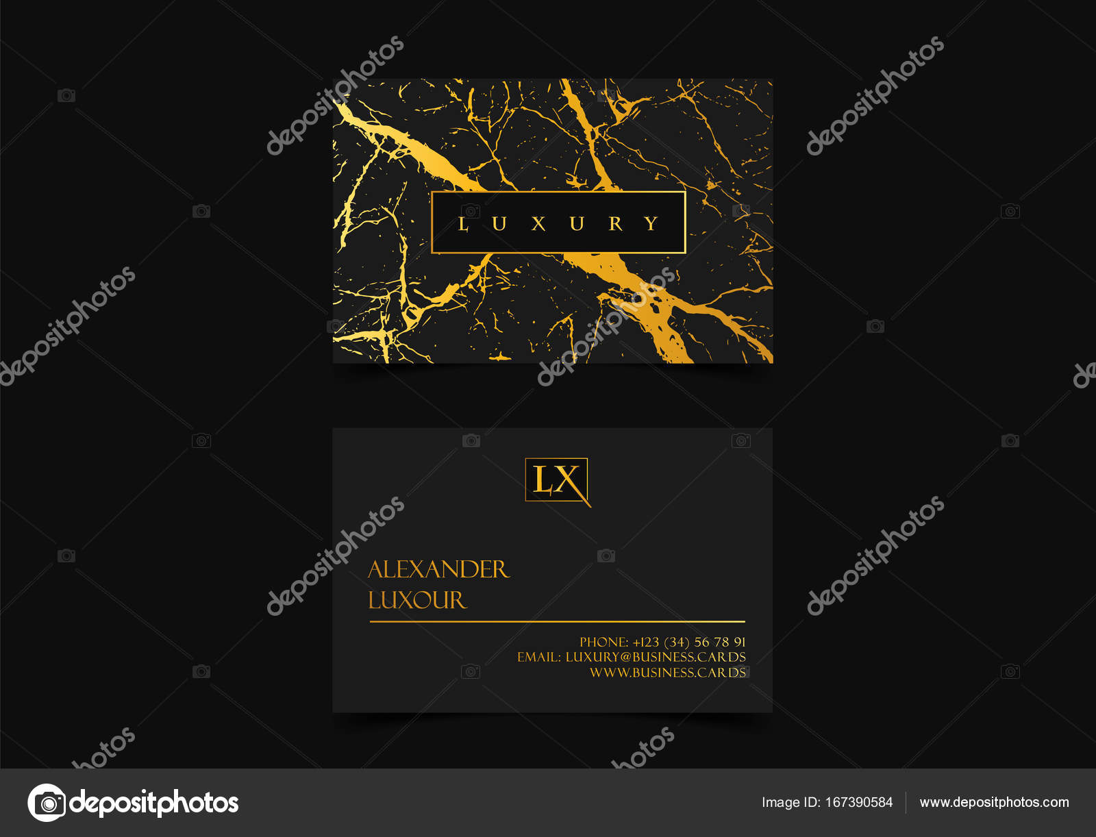 Elegant black luxury business cards with marble texture and gold elegant black luxury business cards with marble texture and gold detail vector template banner or reheart Images