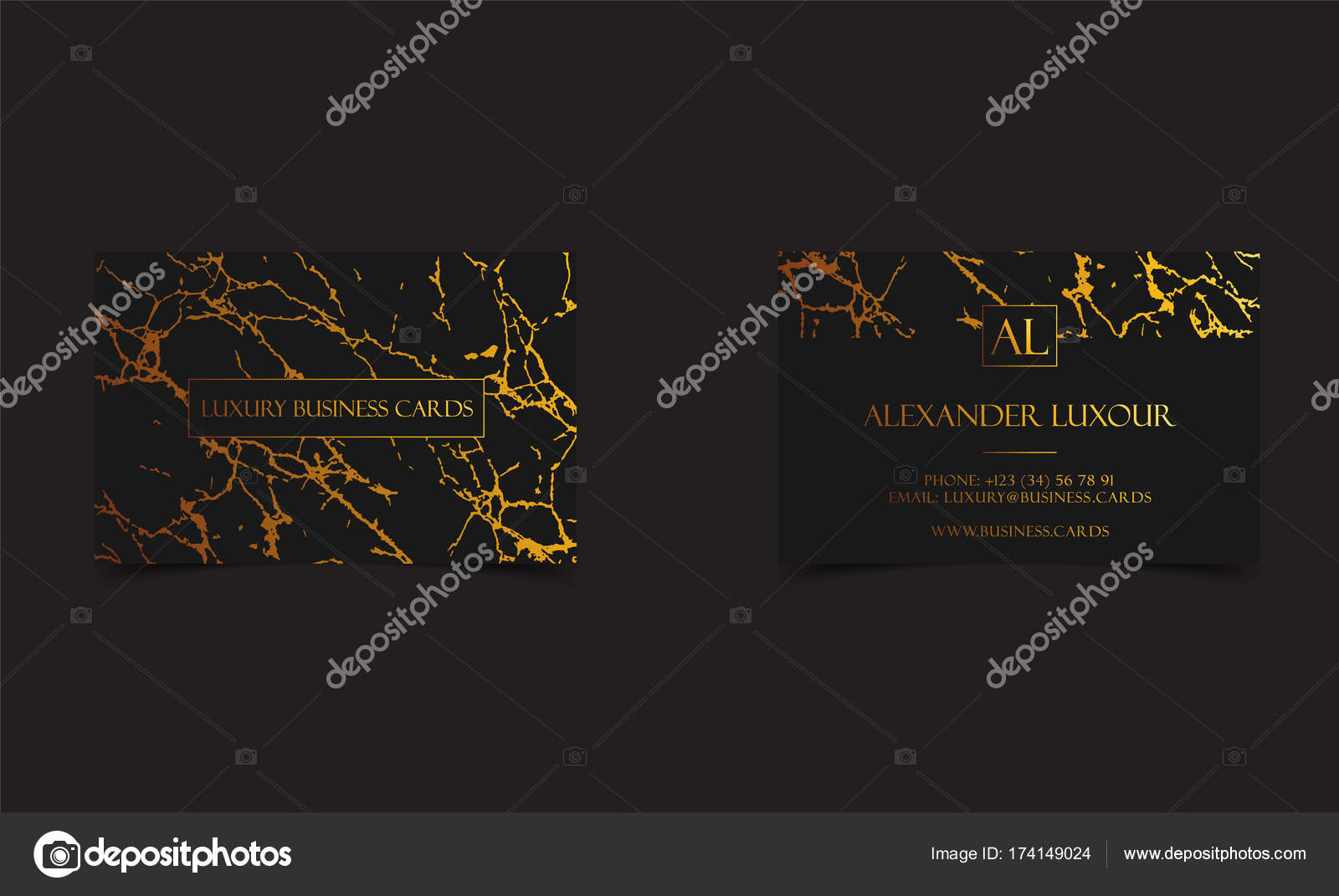 black and gold marble texture. Elegant Black Luxury Business Cards With Marble Texture And Gold Detail Vector Template, Banner Or