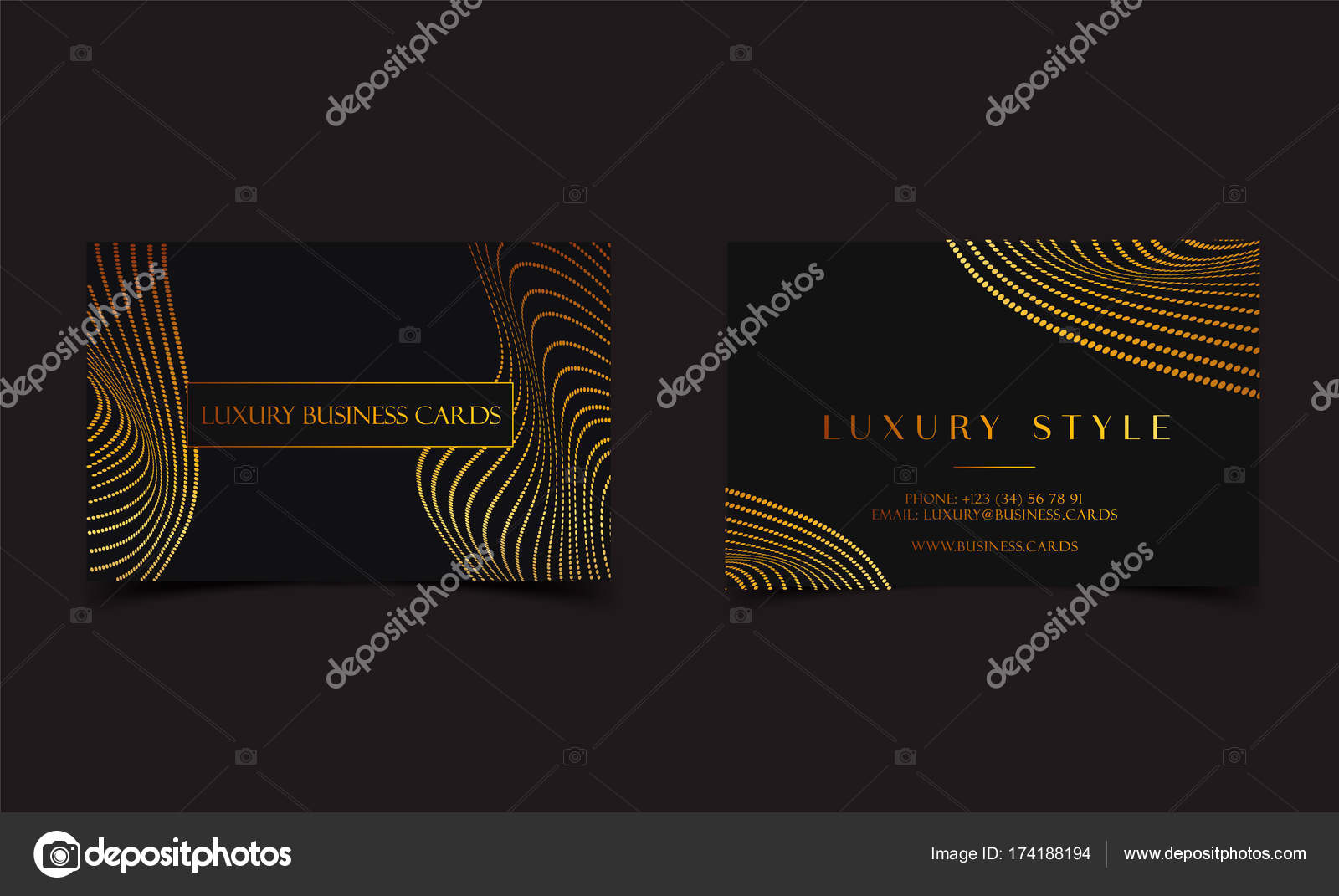 Black Gold Luxury Business Cards For Vip Event Elegant Greeting