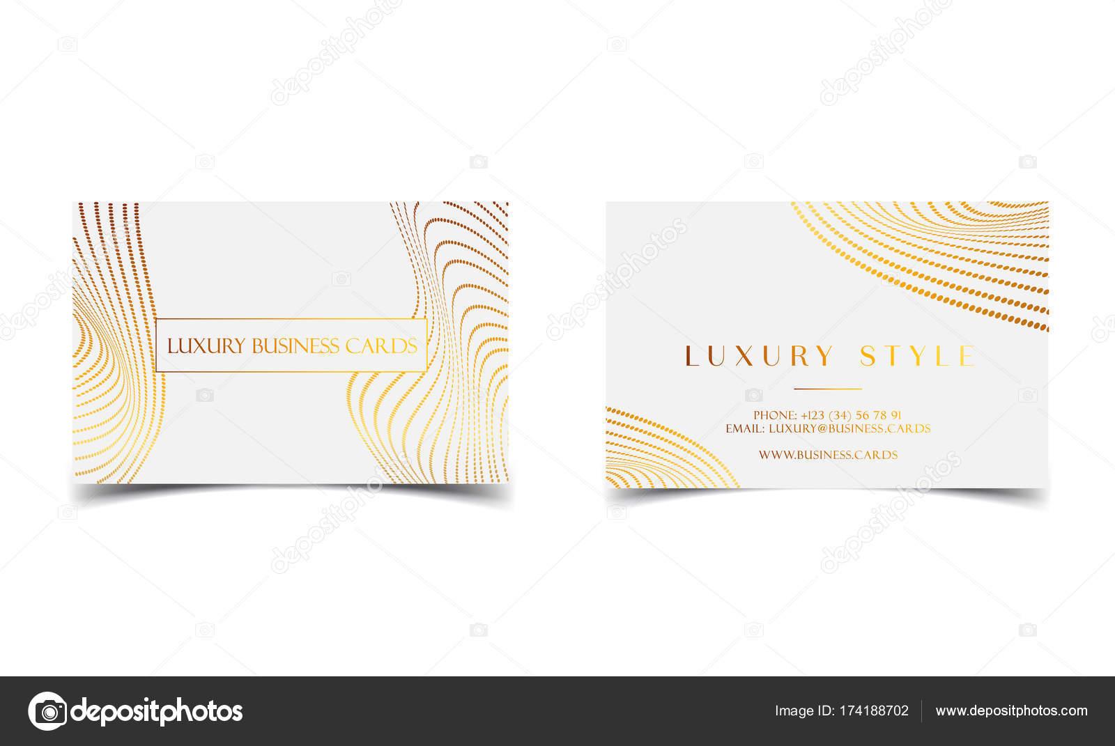 Cartes De Visite Or Blanc Luxe Pour Evenement Vip Elegante Carte Voeux Avec Motif Points Royal Banniere Ou Une Invitation Des Details La