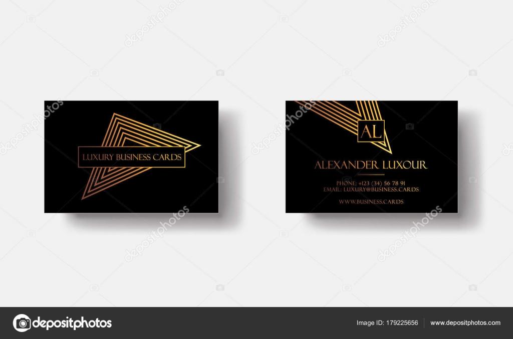 Cartes De Visite Or Noir Luxe Pour Evenement Vip Elegante Carte Voeux Avec Motifs Geometriques Triangle Dore Banniere Ou Invitation Details