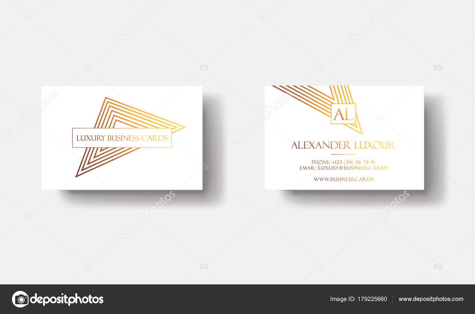Cartes De Visite Or Blanc Luxe Pour Evenement Vip Elegante Carte Voeux Avec Motifs Geometriques Triangle Dore Banniere Ou Invitation Details