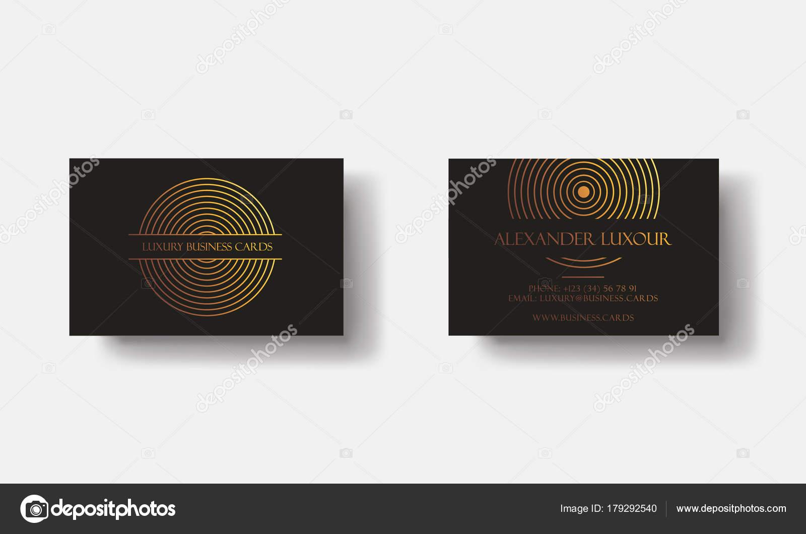 Cartes De Visite Or Noir Luxe Pour Evenement Vip Elegante Carte Voeux Avec Motif Geometrique Cercle Dore Banniere Ou Invitation Daluminium Rond Logo