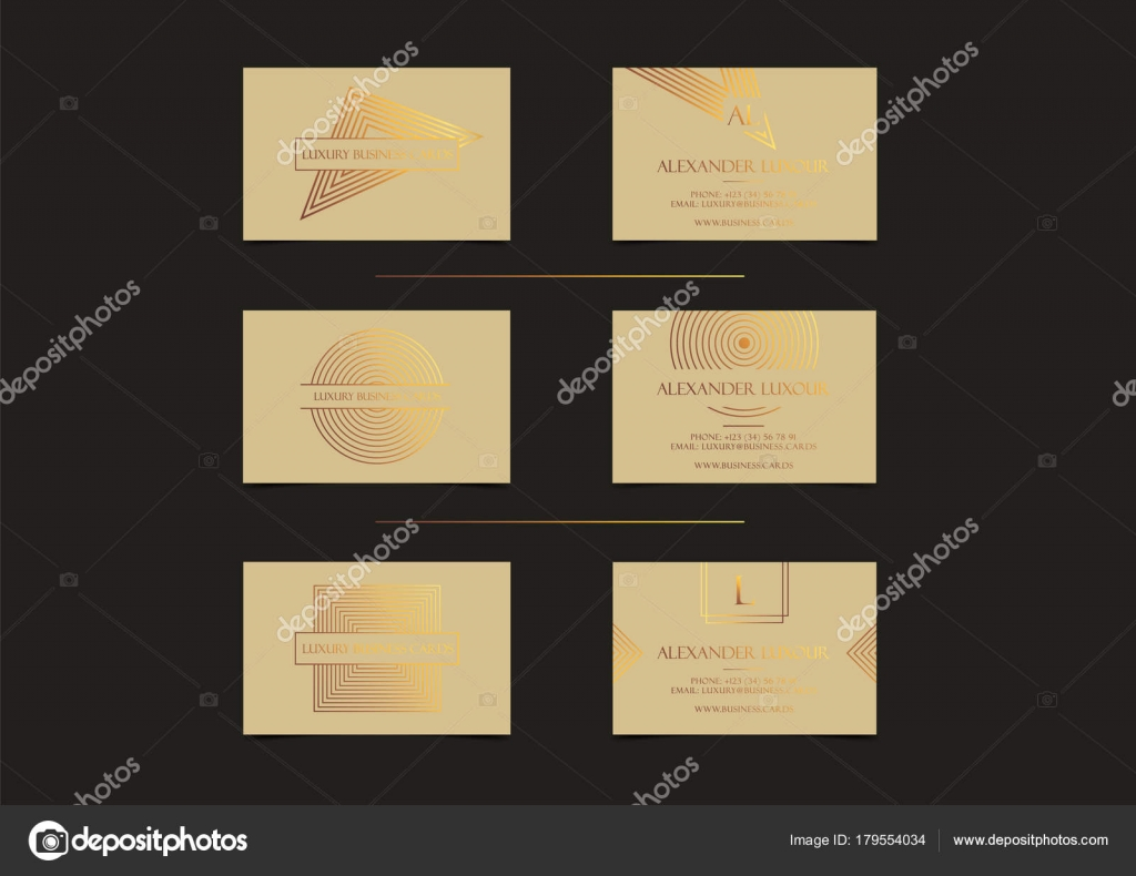 Depositphotos 179554034 Stock Illustration Beige Gold Luxury Business Cards