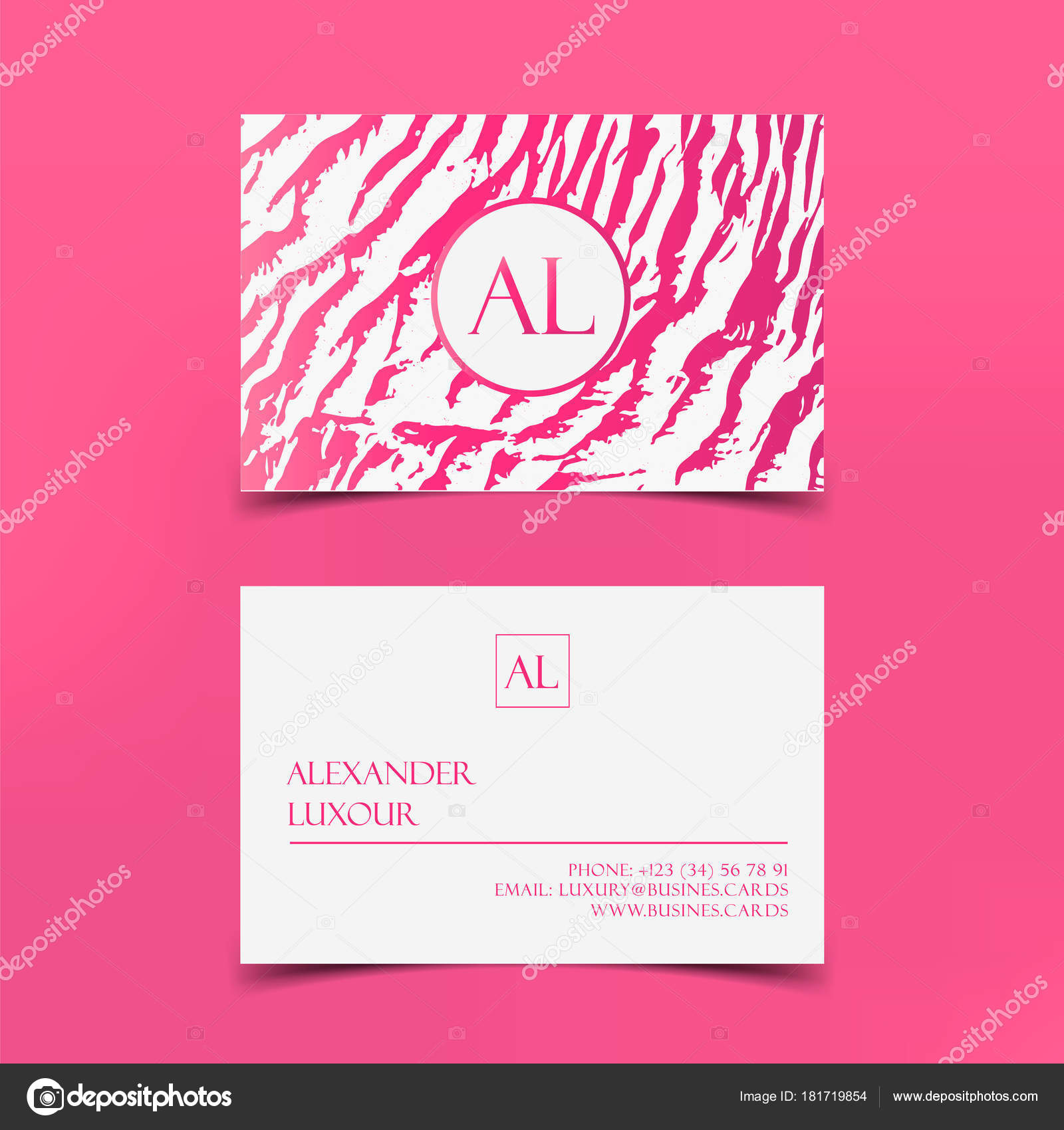 Pink fashion business card vector template banner and cover with pink fashion business card vector template banner and cover with pink zebra texture on pink colourmoves