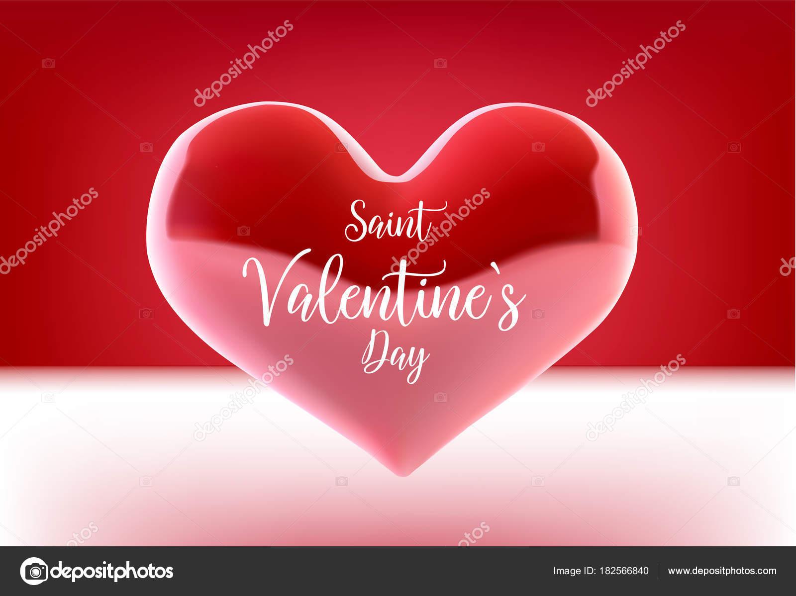 Valentine s Day Konzept. Vektor-Illustration. 3D bunte Herzen mit ...