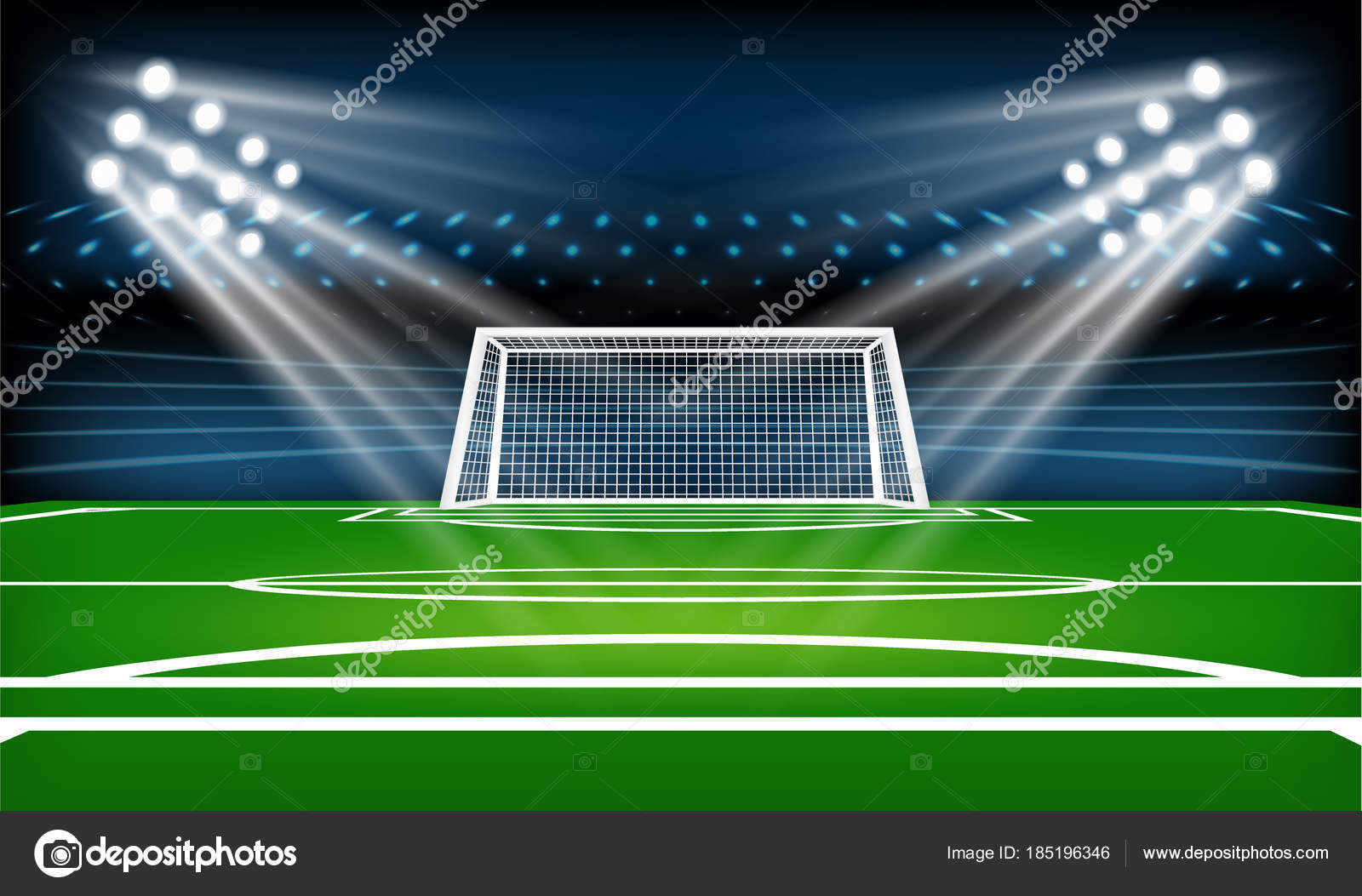 Depositphotos Stock Illustration Football Soccer Playing Field Poster Tournament