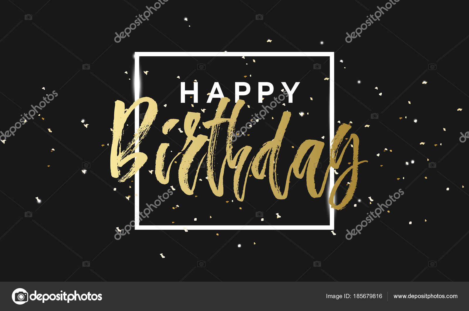 Destellos De Oro Fondo Feliz Cumpleaños Fondo De Cumpleaños