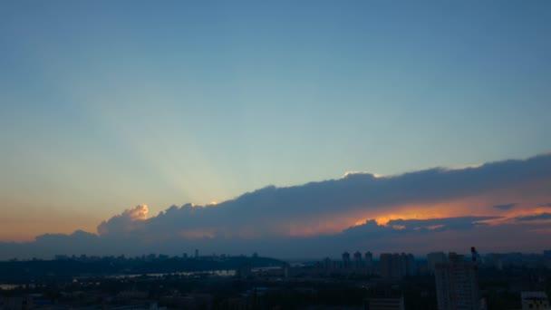 Západ slunce nad dolní Manhattan, New York City