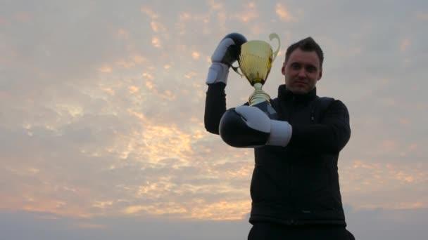 Boksz arany győztes kupa
