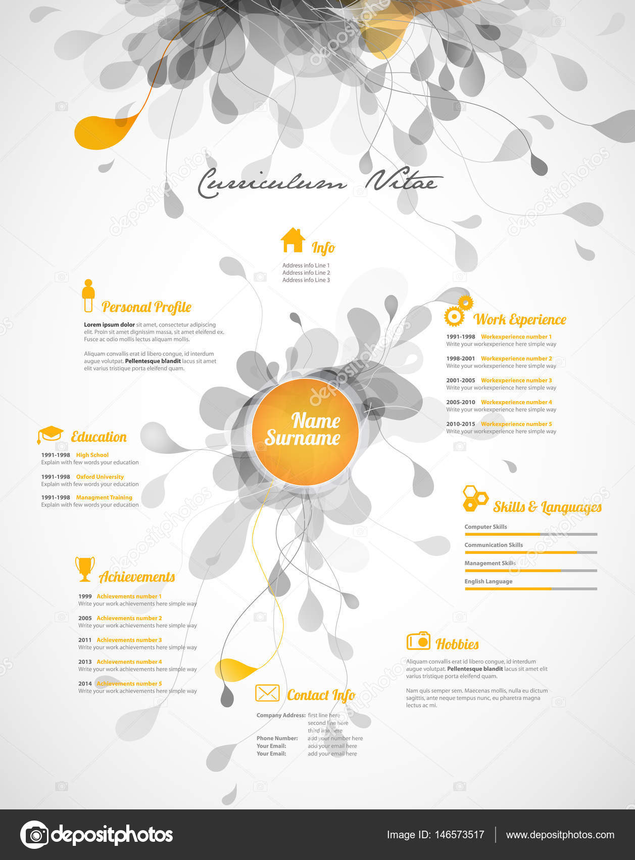 Creative Colorful CV Resume Template Vector By Kormi