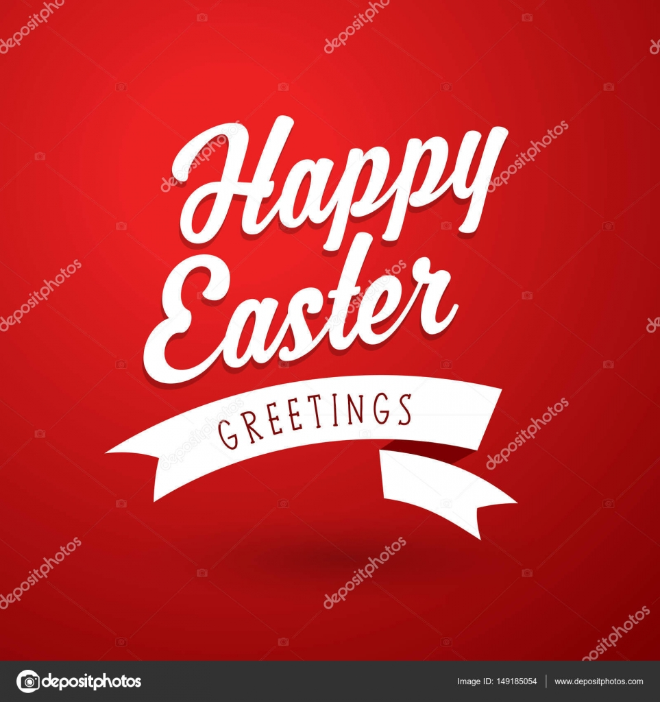Happy Easter Holiday Greeting Card Template Stock Vector Kormi