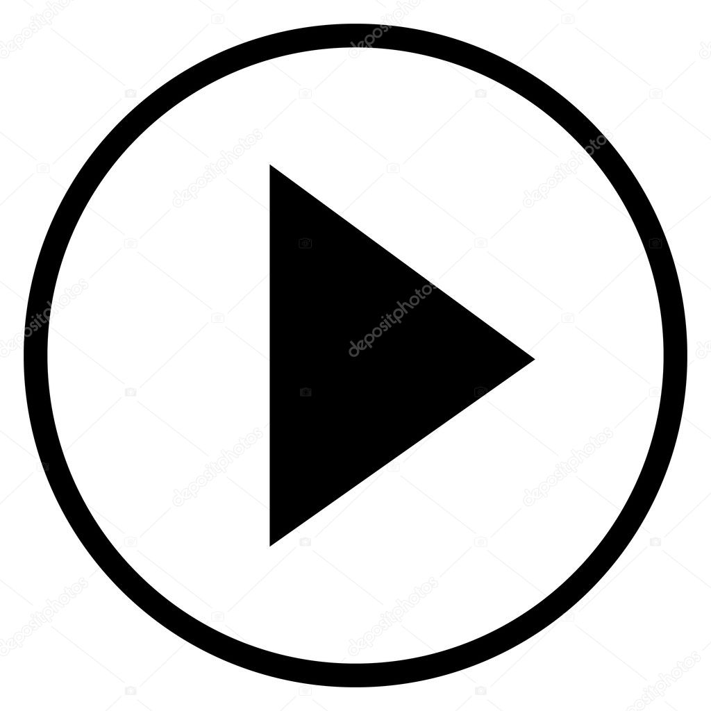 Modern Black Circle Youtube Icon Stock Vector Bigxteq