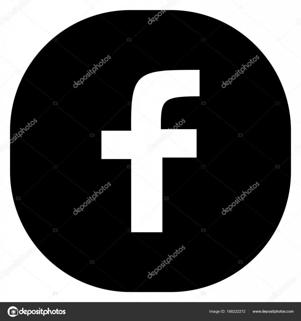 Vector Logo Facebook Negro Original Redondo Cuadrado Negro Web
