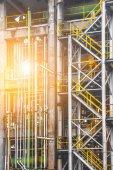 Fotografie průmyslové pohled na ropné rafinérie rostlinné formě průmyslová zóna