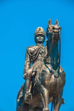 The equestrian statue of King Chulalongkorn (Rama V) in Bangkok,