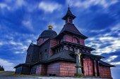 Kostel na úpatí hory Radhošť