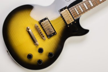 Shiny sunburst guitar