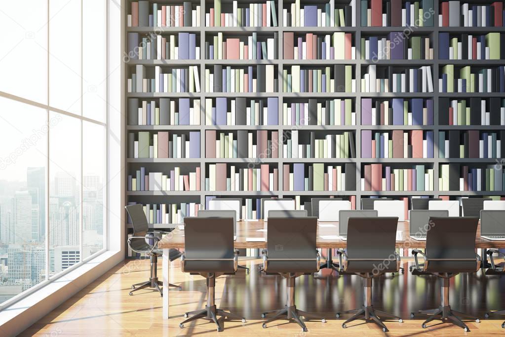 moderne Bibliothek-Interieur — Stockfoto © peshkova #128868236